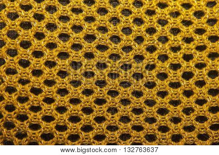 Texture Of Knitted Fabric, Openwork Knit, Knitted Fabrics Of Cotton Yarn As Background.