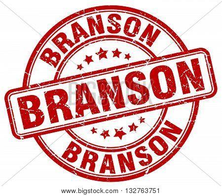 Branson Red Grunge Round Vintage Rubber Stamp.branson Stamp.branson Round Stamp.branson Grunge Stamp