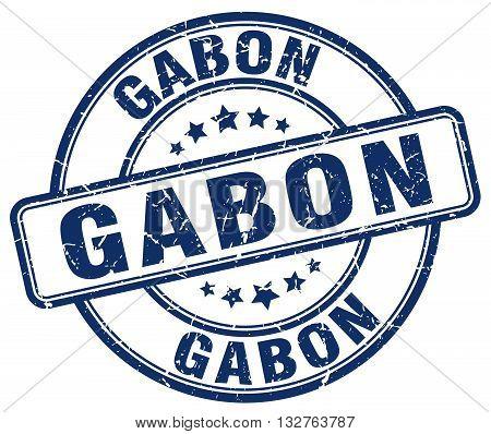 Gabon Blue Grunge Round Vintage Rubber Stamp.gabon Stamp.gabon Round Stamp.gabon Grunge Stamp.gabon.