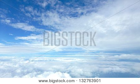 White Fluffy Clouds In The Blue Sky .