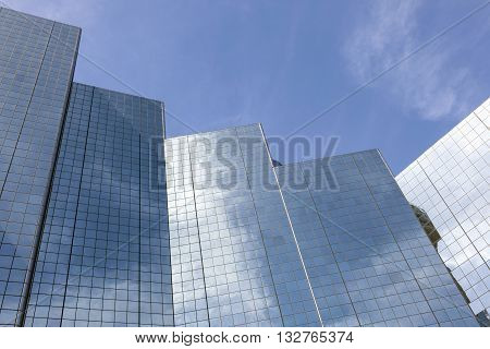 Abstract image of modern highrise buildings in the city