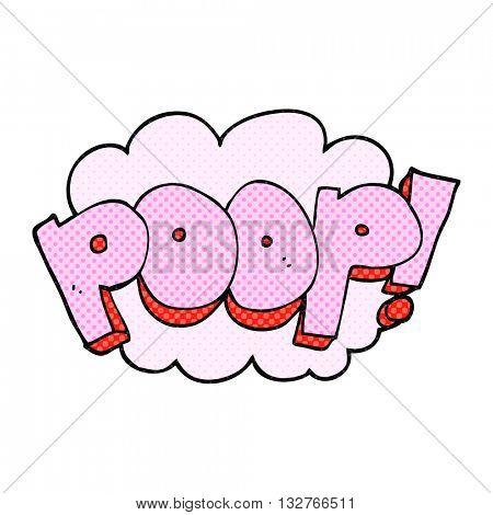 freehand drawn cartoon poop! text