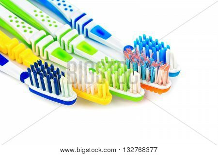 Several Toothbrushes