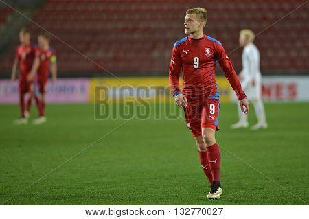 PRAGUE 27/03/2015 _ Matej Vydra. Friendly match Czech Republic U21 - England U21.