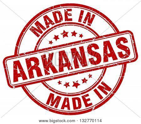 made in Arkansas red round vintage stamp.