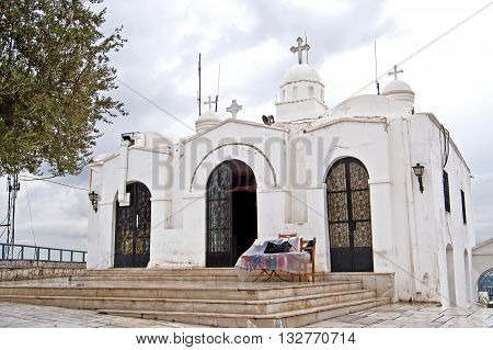 Saint George's chapel on top of Mount Lycabettus in Athens, Greece