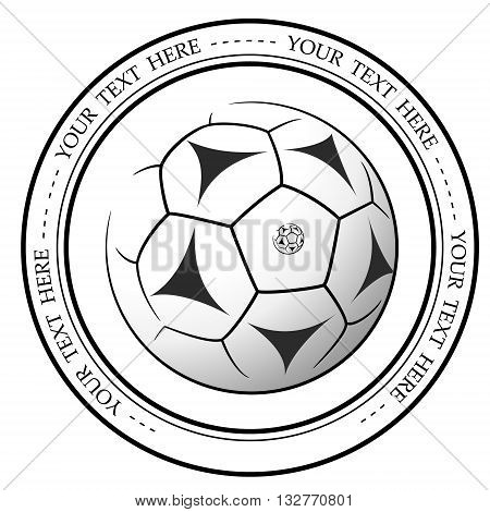 Graphic football or soccer logo. Vector isolated illustration of a Football association or a sports event logo sign symbol.