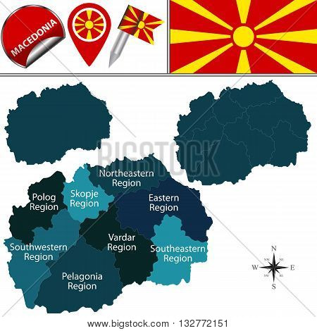 Map Of Macedonia With Statistical Regions