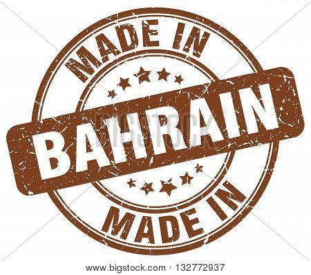 made in Bahrain brown round vintage stamp.Bahrain stamp.Bahrain seal.Bahrain tag.Bahrain.Bahrain sign.Bahrain.Bahrain label.stamp.made.in.made in.