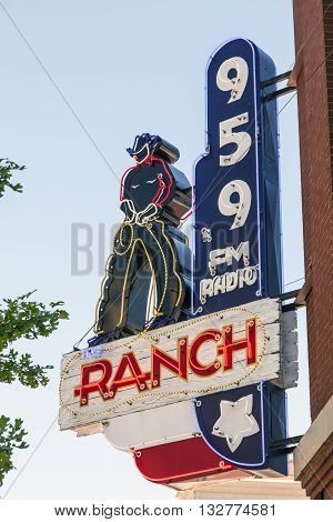 FORT WORTH USA - APR 6: The Ranch - Country Music Radio Station in Fort Worth. April 6 2016 in Fort Worth Texas USA