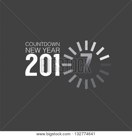 2017 Countdown Loading Vector Illustration. EPS 10