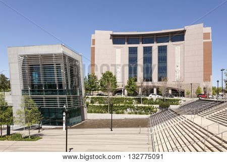 FORT WORTH USA - APR 6: Tom Vandergriff Civil Courts Building in Fort Worth. April 6 2016 in Fort Worth Texas USA