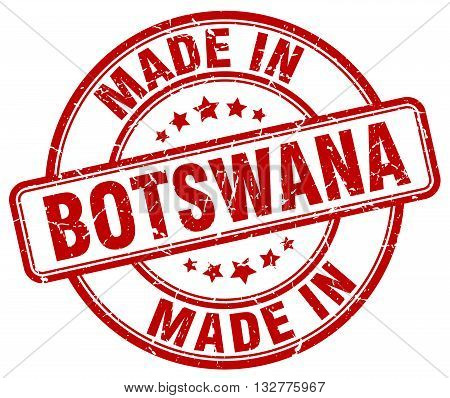 made in Botswana red round vintage stamp.Botswana stamp.Botswana seal.Botswana tag.Botswana.Botswana sign.
