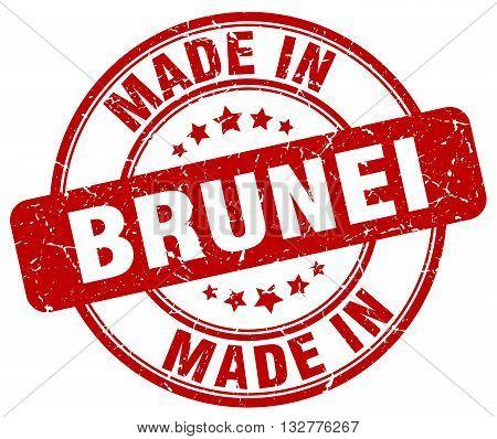 made in Brunei red round vintage stamp.Brunei stamp.Brunei seal.Brunei tag.Brunei.Brunei sign.Brunei.Brunei label.stamp.