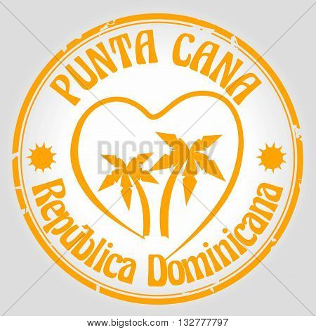 Stamp welcome to punta cana, Dominican Republic