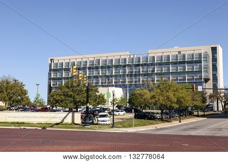 FORT WORTH USA - APR 6: The University of North Texas Health Science Center in the city of Fort Worth. April 6 2016 in Fort Worth Texas USA