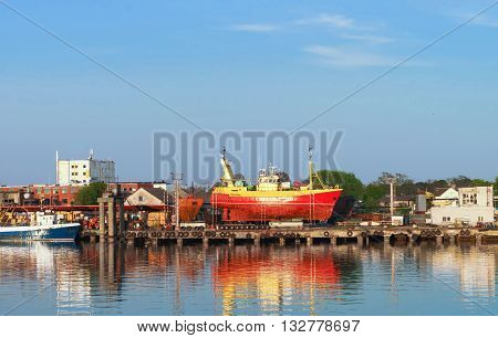 Ships In Marina In Ventspils