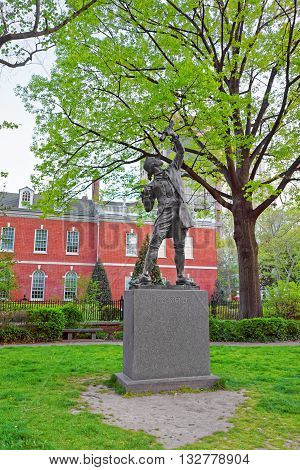 The Signer Statue In Signers Park Of Philadelphia Pa