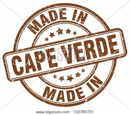 made in Cape Verde brown round vintage stamp.Cape Verde stamp.Cape Verde seal.Cape Verde tag.Cape Verde.Cape Verde sign.Cape.Verde.Cape Verde label.stamp.made.in.made in.