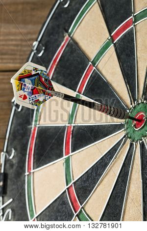 Dart Pin Hit The Bullseye On The Dart