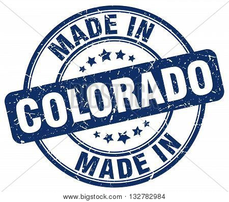 made in Colorado blue round vintage stamp.Colorado stamp.Colorado seal.Colorado tag.Colorado.Colorado sign.Colorado.Colorado label.stamp.made.in.made in.