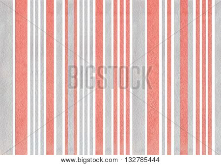 Watercolor Pink And Grey Stripes Background.