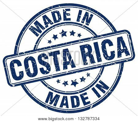 made in Costa Rica blue round vintage stamp.Costa Rica stamp.Costa Rica seal.Costa Rica tag.Costa Rica.Costa Rica sign.Costa.Rica.Costa Rica label.stamp.made.in.made in.