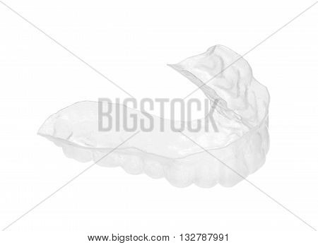Mouth guard (with clipping path) isolated on white background