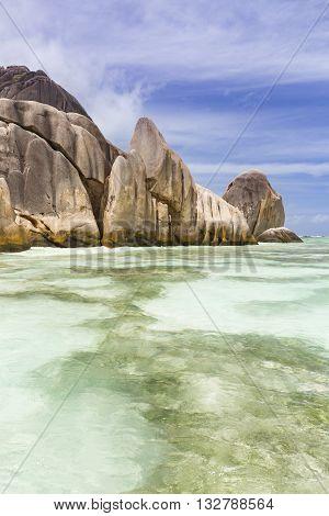 Lagoon And Coastline, La Digue, Seychelles
