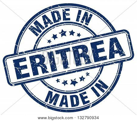 made in Eritrea blue round vintage stamp.Eritrea stamp.Eritrea seal.Eritrea tag.Eritrea.Eritrea sign.Eritrea.Eritrea label.stamp.made.in.made in.