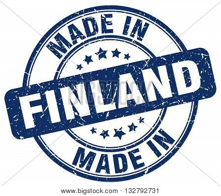 made in Finland blue round vintage stamp.Finland stamp.Finland seal.Finland tag.Finland.Finland sign.Finland.Finland label.stamp.made.in.made in.