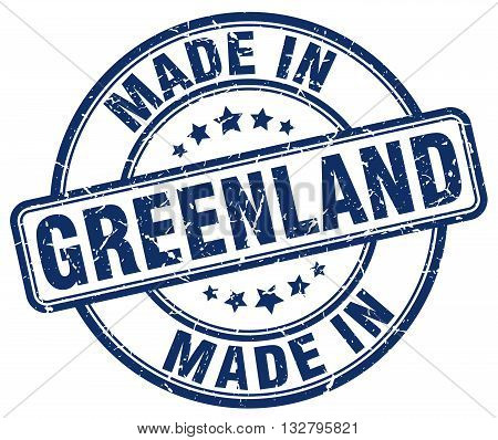 made in Greenland blue round vintage stamp.Greenland stamp.Greenland seal.Greenland tag.Greenland.Greenland sign.Greenland.Greenland label.stamp.made.in.made in.