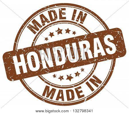made in Honduras brown round vintage stamp.Honduras stamp.Honduras seal.Honduras tag.Honduras.Honduras sign.Honduras.Honduras label.stamp.made.in.made in.