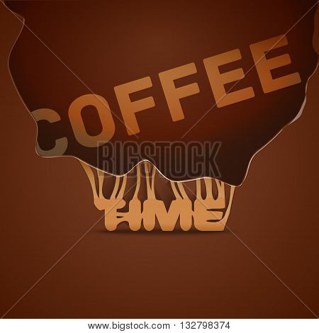 Coffee background, trendy style background design template