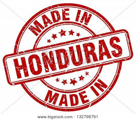 made in Honduras red round vintage stamp.Honduras stamp.Honduras seal.Honduras tag.Honduras.Honduras sign.Honduras.Honduras label.stamp.made.in.made in.
