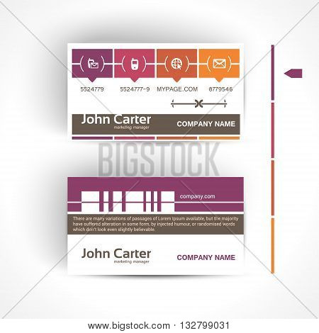 Modern and simple light business card template in minimal style.