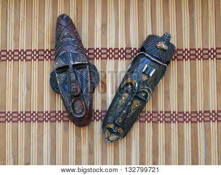 The African masks are used by inhabitants of Africa The African masks serve as a peculiar conductor to other world of perfume