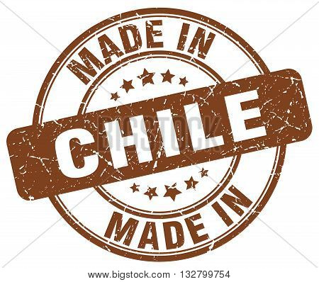 made in Chile brown round vintage stamp.Chile stamp.Chile seal.Chile tag.Chile.Chile sign.Chile.Chile label.stamp.made.in.made in.