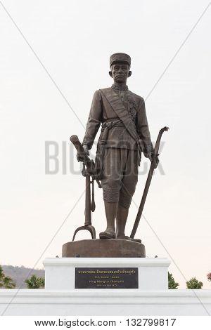 HUA HIN THAILAND-APRIL 22 : Thai king Mongkut (Rama lV) monument at Ratchapakdi Park on APRIL 22 2016 in HUA HIN Prachuap Khiri Khan Province THAILAND. Rajabhakti Park is a historically themed park honouring past Thai kings.