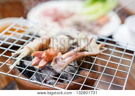 Pork And Sea Food Grill