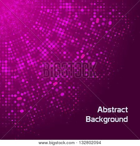 Doted abstract background vector illustration design template