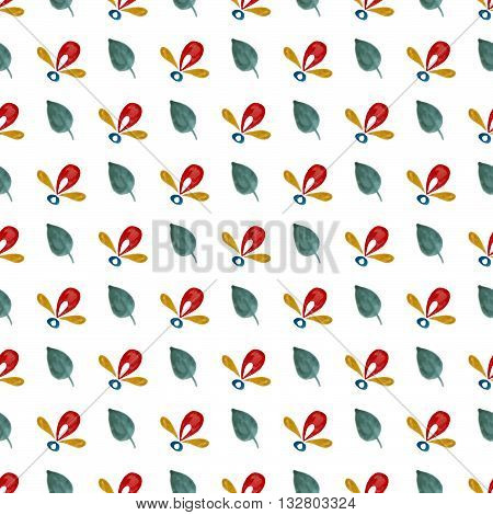 handpaint watercolor vector seamless pattern. For textile