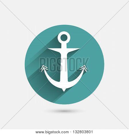 Anchor minimal Icon vector illustration design template