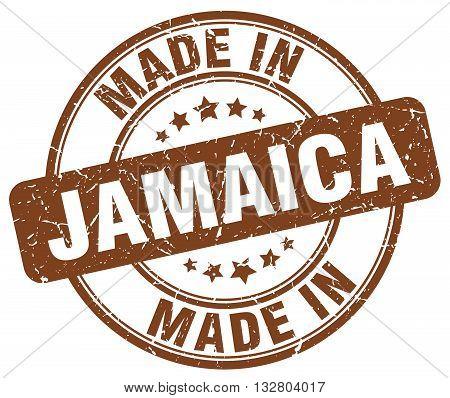 made in Jamaica brown round vintage stamp.Jamaica stamp.Jamaica seal.Jamaica tag.Jamaica.Jamaica sign.Jamaica.Jamaica label.stamp.made.in.made in.