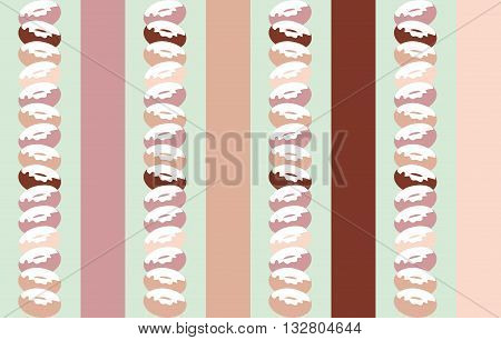 Background of donuts and Stripes print. For advertising, printing, printing paper, brochures, booklets, tickets, fabric
