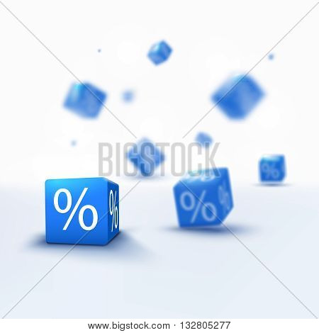 3D discount boxes dice for store market and shop. Sale promotional concept. 3d discount sale design. Discount Sale 3d