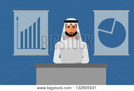 Arab Man On Table