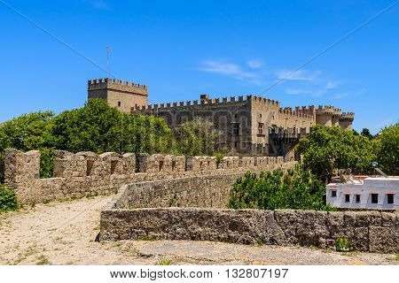 Palace of the Grand Master of the Knights, Rhodes island, Dodecanese, Greece.
