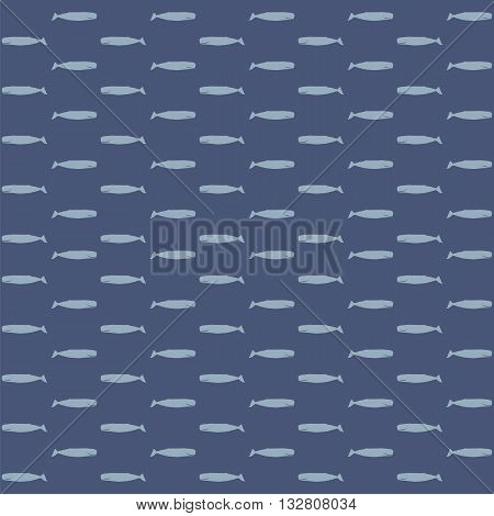 Seamless pattern of whales vector. Whales vector.