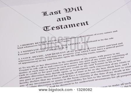 Última voluntad y Testamento